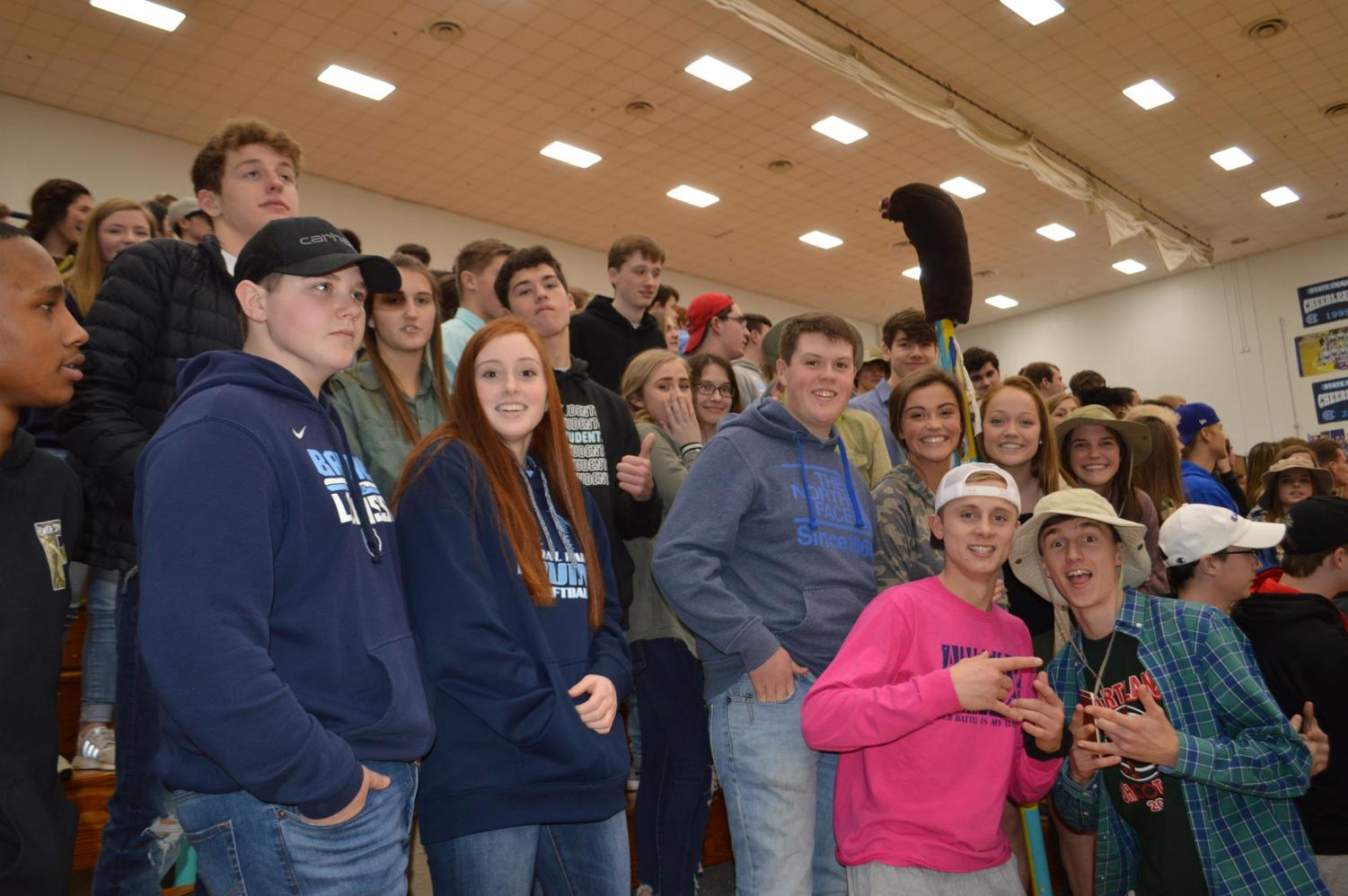Despite three consecutive snow days, the crowd showed up for Homecoming at the girls' game against John Hardin on Feb. 1.