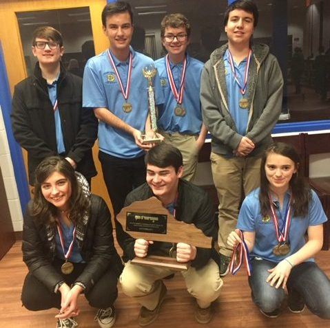 Academic Team poses with Region trophy.