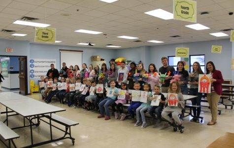 Monsters invade first grade class at Lincoln Trail Elementary