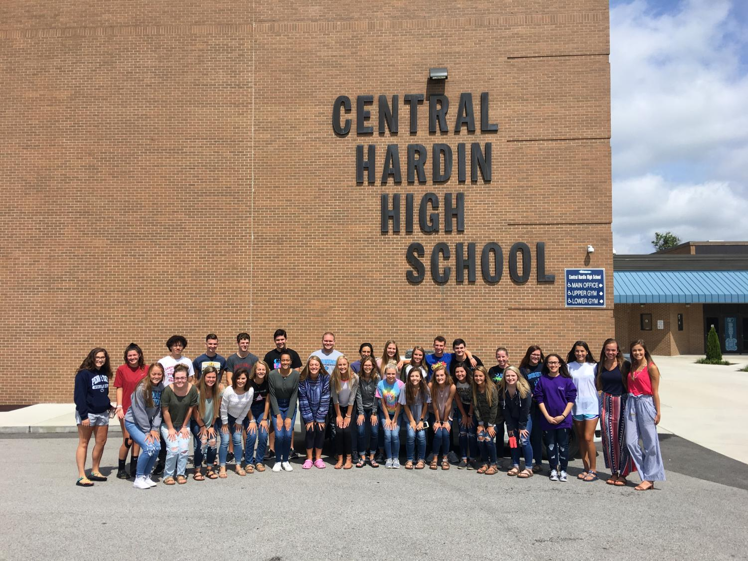 Members of CHHS's Executive Council pose for a picture. Service-oriented clubs like Executive Council, Beta Club, and Y-Club are a great way for students to get involved in their community.