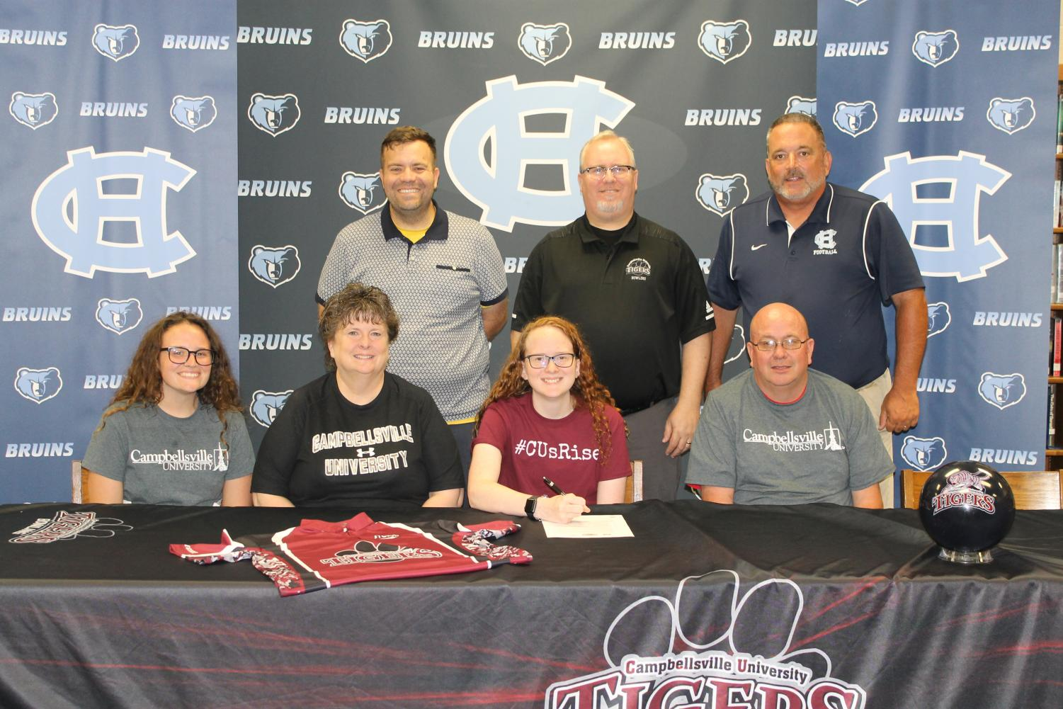 Rachel Langford signed with the Campbellsville University bowling team on May 29.