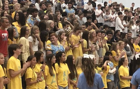 Freshmen experience their first pep rally at Central Hardin.