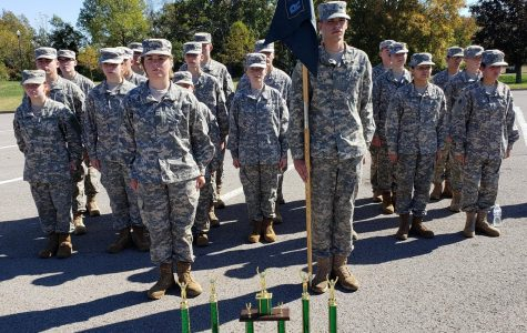 The Bruin Raider teams placed 3rd and 8th overall against 29 teams from Tennessee and Kentucky at the Ft Knox H.S. Eagle Challenge.  Cadets stand proudly behind their overall and event trophies.