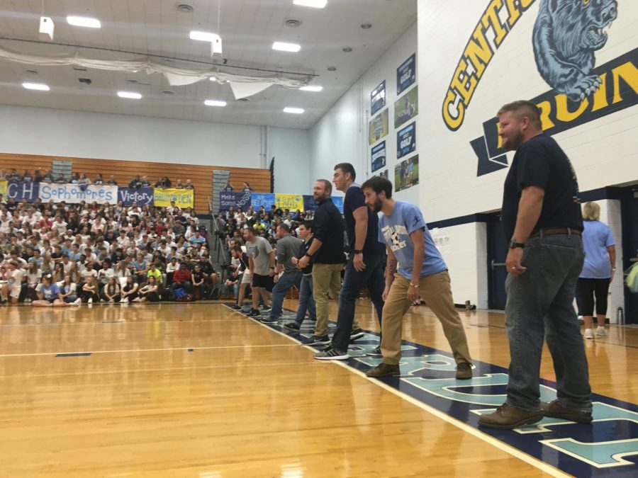 Some teachers participated in student versus staff dodge ball, where the teachers won.