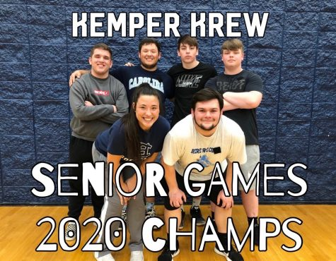 The 2nd Annual Senior Games have come and gone. Here are the 2020 champs. Front: Emily Bryant and Dylan Butterworth; Back: Jacob Martin, Ethan Bryant, Joshua McGowan, and Zak Kemper.