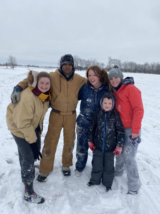 McKenzie Brown goes sledding with friends and family on Wed, Feb. 17.