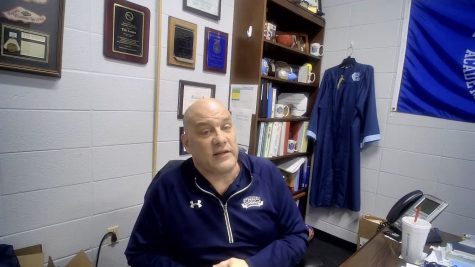 Principal Tim Isaacs on Feb. 23 during an informational Facebook Live about senior activities