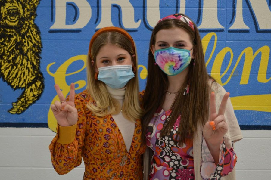 Two students show off their decades inspired outfits (April 15)