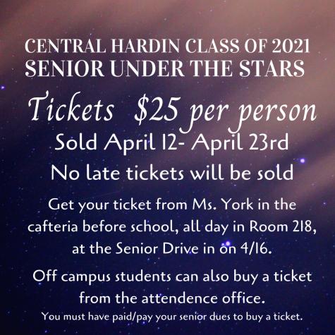 Senior Under the Stars Update: Menu & Tickets