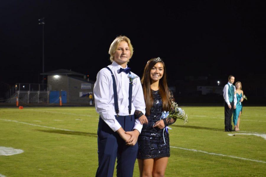 Freshman Homecoming Princess Davi Abell and her escort, freshman Ayden Allen (Sep. 24)
