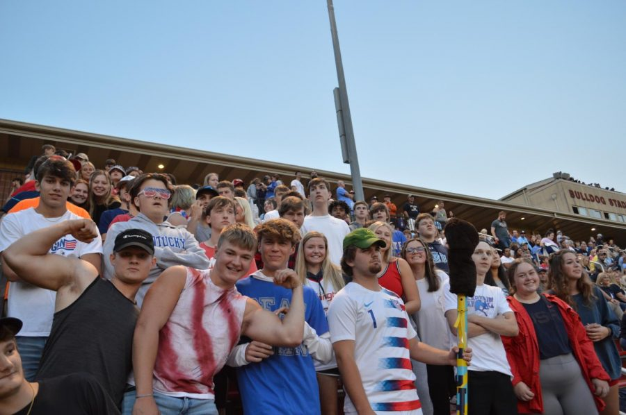 The student section cheering on the Bruins. (Sep. 10)