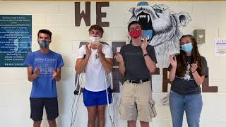 Class presidents Ethan Williams (sophomore), Chip Collins (junior), Grant Avis (senior), and Sydney Priddy (freshman) show their student body how its done.